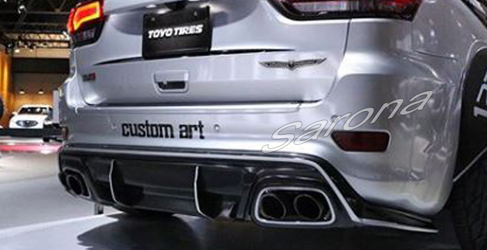 Custom Jeep Grand Cherokee  SUV/SAV/Crossover Rear Add-on Lip (2011 - 2019) - $790.00 (Part #JP-009-RA)
