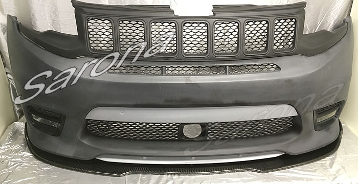 Custom Jeep Grand Cherokee  SUV/SAV/Crossover Front Add-on Lip (2017 - 2019) - $550.00 (Part #JP-021-FA)