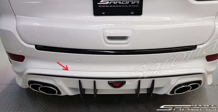 Custom Jeep Grand Cherokee  SUV/SAV/Crossover Rear Add-on Lip (2011 - 2019) - $890.00 (Part #JP-010-RA)