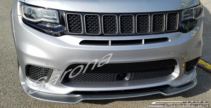 Custom Jeep Grand Cherokee  SUV/SAV/Crossover Front Add-on Lip (2018 - 2019) - $590.00 (Part #JP-027-FA)