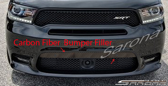 Custom Dodge Durango  SUV/SAV/Crossover Bumper Filler (2017 - 2020) - $490.00 (Part #DG-001-BF)