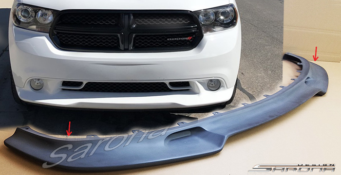 Custom Dodge Durango  SUV/SAV/Crossover Front Add-on Lip (2011 - 2013) - $390.00 (Part #DG-029-FA)
