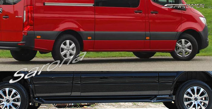 Custom Mercedes Sprinter  Short Wheel Base Running Boards (2019 - 2020) - $980.00 (Part #MB-010-SB)