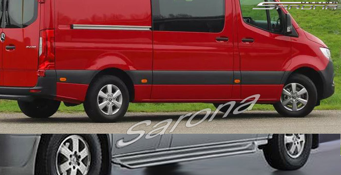 Custom Mercedes Sprinter  Short Wheel Base Running Boards (2019 - 2020) - $850.00 (Part #MB-012-SB)