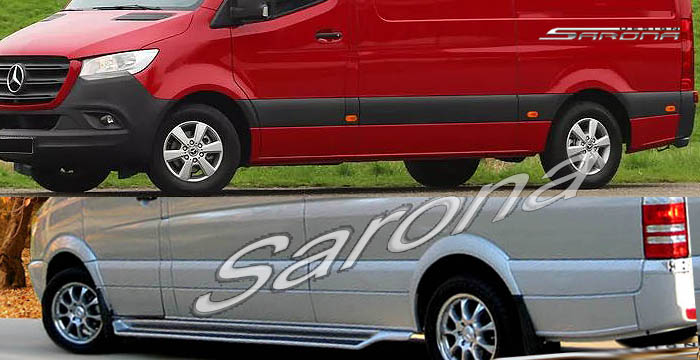 Custom Mercedes Sprinter  Long Wheel Base Running Boards (2019 - 2020) - $950.00 (Part #MB-016-SB)