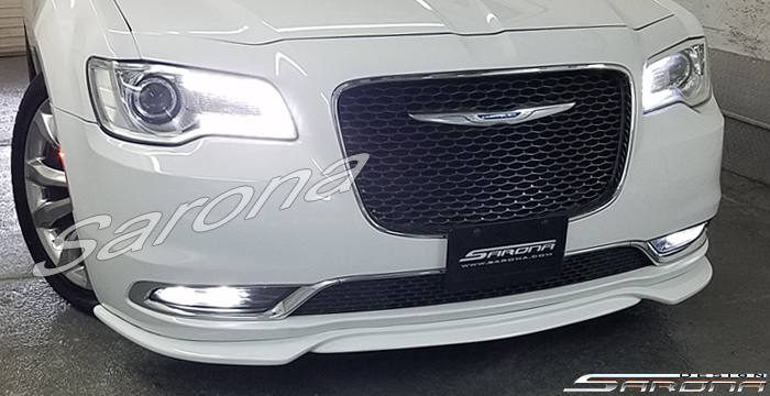 Custom Chrysler 300  Sedan Front Add-on Lip (2011 - 2019) - $450.00 (Part #CR-007-FA)