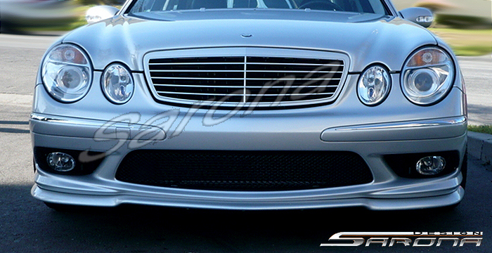 Custom Mercedes E Class Front Bumper Add-on Sedan Front ...