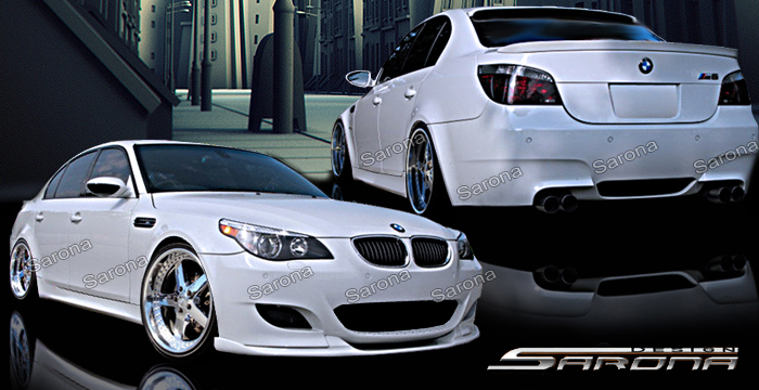 Custom BMW 5 Series Body Kit Sedan (2004 - 2010) - $1490.00 (Manufacturer Sarona, Part #BM-042-KT)