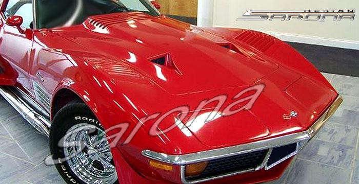 Custom Chevy Corvette Hood Coupe (1968 - 1972) - $750.00 (Manufacturer Sarona, Part #CH-006-HD)