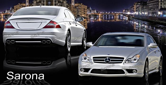 Custom Mercedes CLS Sedan Body Kit (2005 - 2011) - $1990.00 (Manufacturer Sarona, Part #MB-053-KT)