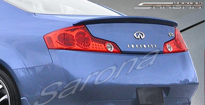 Custom Infiniti G35 Coupe Trunk Wing (2003 - 2007) - $245.00 (Manufacturer Sarona, Part #IF-031-TW)