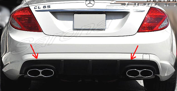 Custom Mercedes CL Rear Add-on Coupe Rear Add-on Lip (2007 ...