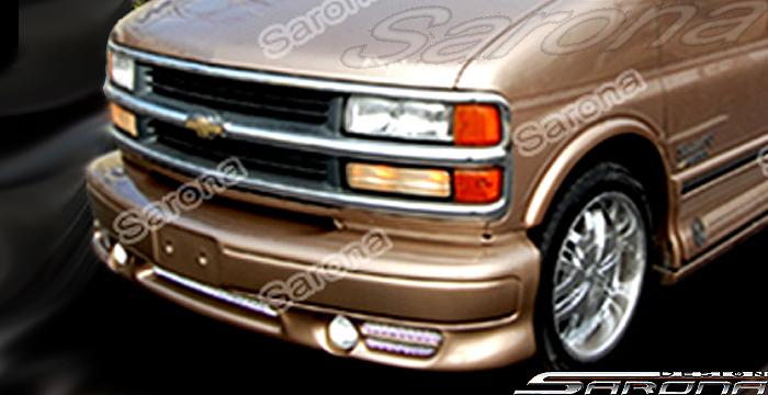 Custom Chevy Van All Styles Front Bumper (1996 - 2002) - $490.00 (Part #CH-013-FB)