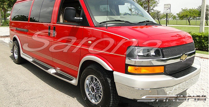 Custom Chevy Van Long Wheel Base Running Boards (2003 - 2019) - $1290.00 (Part #CH-001-SB)