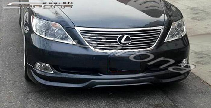 Custom Lexus LS460 Sedan Front Add-on Lip (2006 - 2009) - $425.00 (Part #LX-004-FA)