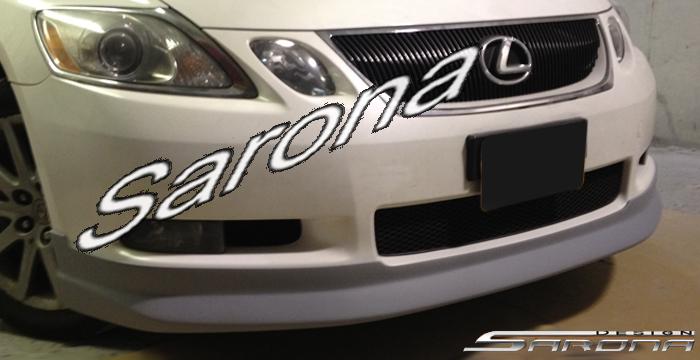 Custom Lexus GS300-400 Sedan Front Add-on Lip (2006 - 2008) - $299.00 (Part #LX-005-FA)