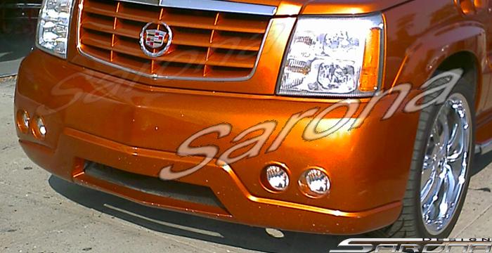 Custom Cadillac Escalade E.X.T. Truck Front Bumper (2002 - 2006) - $450.00 (Part #CD-009-FB)