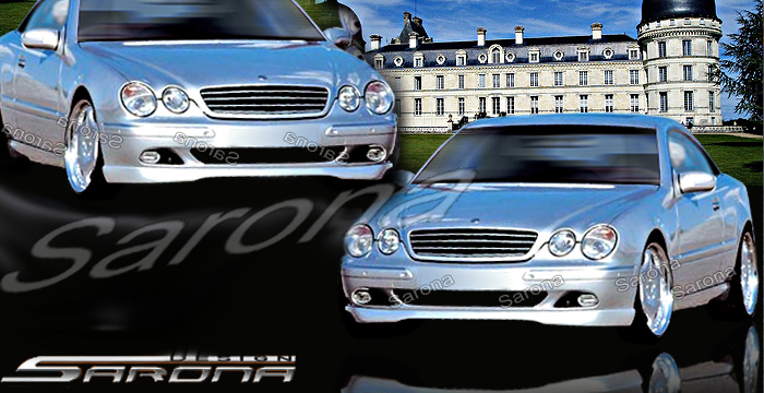 Custom Mercedes CL Coupe Front Add-on Lip (2000 - 2006 ...