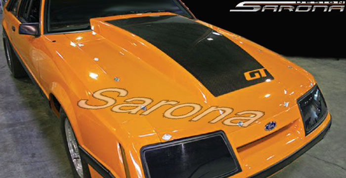 Custom Ford Mustang Coupe & Convertible Hood (1983 - 1986) - $490.00 (Part #FD-020-HD)