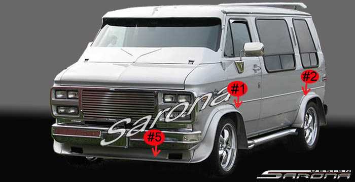 Custom Gmc Van All Styles Body Kit 1970 1995 790 00