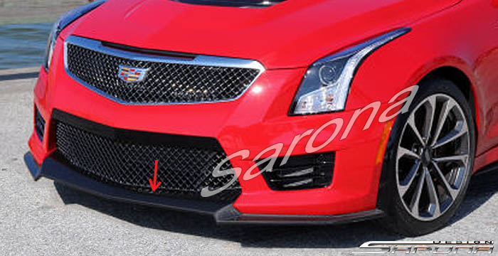 Custom Cadillac ATS Coupe Front Add-on Lip (2015 - 2016) - $690.00 (Part #CD-013-FA)