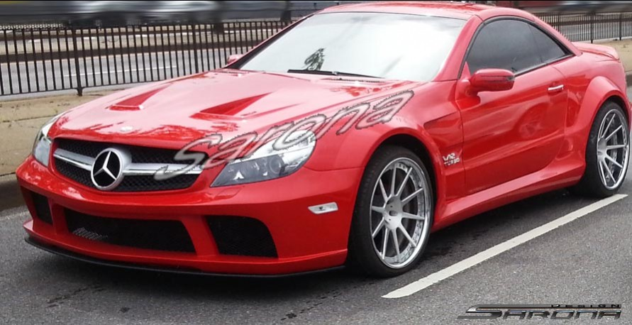 Custom Mercedes SL  Convertible Side Skirts (2003 - 2012) - Call for price (Part #MB-047-SS)
